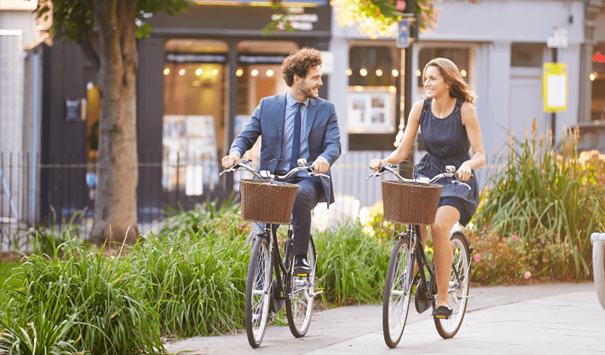 Eco friendly commuting ride to work scheme