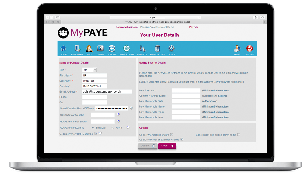 MyPaye and Smart Pension API